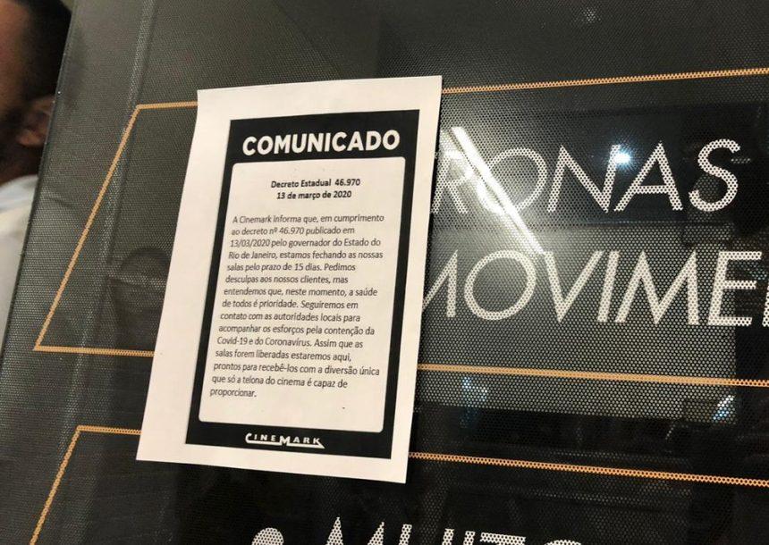 Com cinemas fechados, Cinemark oferece plano de demissão voluntária no RJ; Kinoplex dá férias coletivas