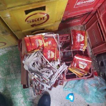Polícia apreende 600 caixas de cerveja com rótulos adulterados em depósito em São Gonçalo, RJ
