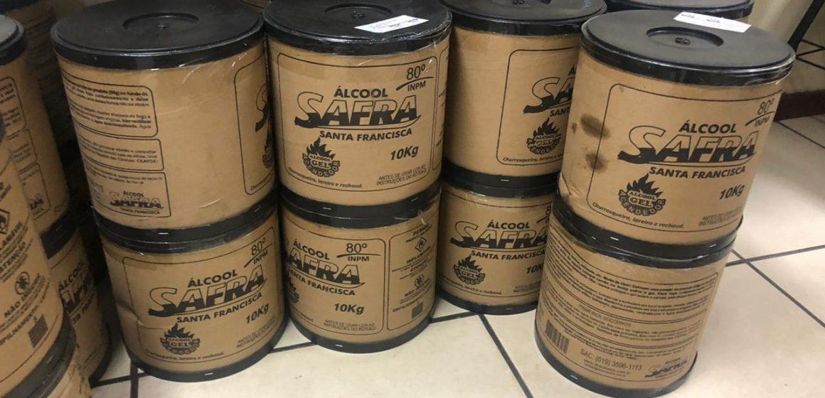 Polícia apreende cerca 300 quilos de álcool em gel por preço abusivo