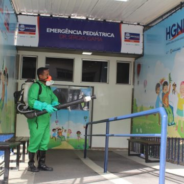 Prefeitura de Nova Iguaçu faz trabalho de descontaminação nos arredores das unidades de saúde da cidade