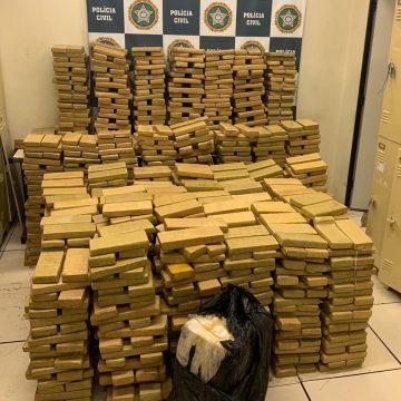 Polícia Civil apreende duas toneladas de maconha que seriam levadas para a Cidade de Deus, na Zona Oeste do Rio