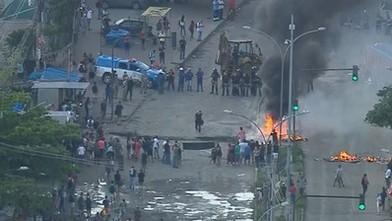 Moradores protestam contra remoções em Rio das Pedras; há confronto