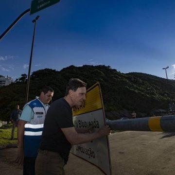Avenida Niemeyer é reaberta após ficar nove meses fechada por decisão judicial
