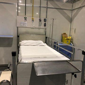 Hospital de campanha contra o novo coronavírus no Riocentro está 85% pronto