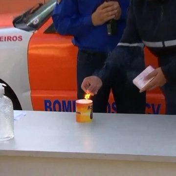 Defesa Civil orienta sobre cuidados com álcool em gel e 'chama invisível'