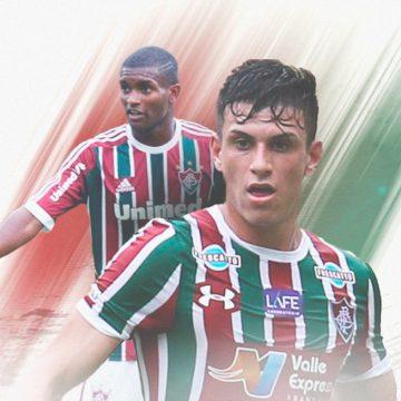 """Na seleção das revelações do Fluminense, Marlon e Ibañez não descartam dupla: """"Por que não?"""""""