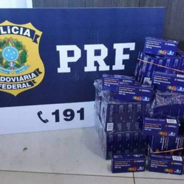 Contrabando de hidroxicloroquina é apreendido pela PRF em rodovia