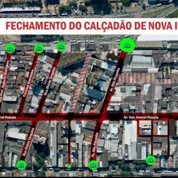 """AVANÇO DA COVID-19 :""""Em edição extraordinária no diário oficial da cidade (10/05)prefeito de Nova Iguaçú amplia restrição no centro com bloqueios de ruas e acessos de pedestres"""