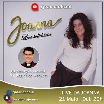 Cantora Joanna realiza segunda live