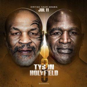 Revanche de Tyson x Holyfield já tem até simulação em game e cartaz. Quem vence?