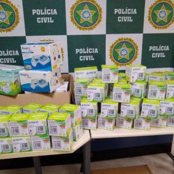 DRFC prende comerciantes vendendo produtos médicos roubados