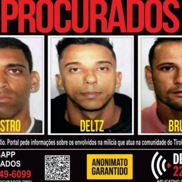Disque Denúncia pede informações sobre grupo que atua na milícia da Zona Oeste