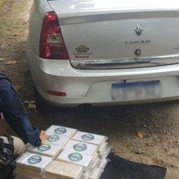 PRF apreende 40 kg em carro abandonado na Rio-Santos