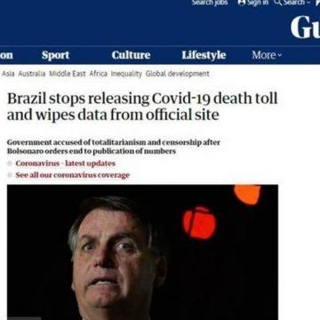 BRASIL É DESTAQUE NO MUNDO POR ESCONDER DADOS DE MORTES POR COVID-19. OMS COBRA TRANSPARÊNCIA