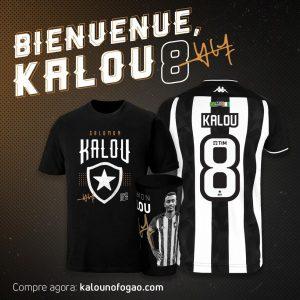 """Botafogo lança site para venda de produtos de Kalou, e atacante diz: """"Muito feliz com a chance"""""""