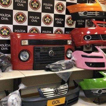 Polícia apreende 10 toneladas de peças de carros falsificadas e avaliadas em R$ 15 milhões