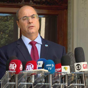 Antes de ser afastado, Witzel tentou conversar com Bolsonaro