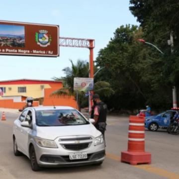 Barreira sanitária impede a entrada de turistas em Maricá