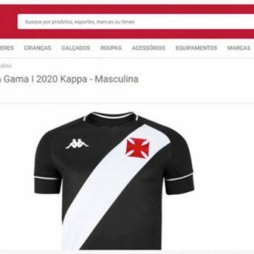 Loja virtual vaza novas camisas do Vasco e causa irritação na diretoria do clube