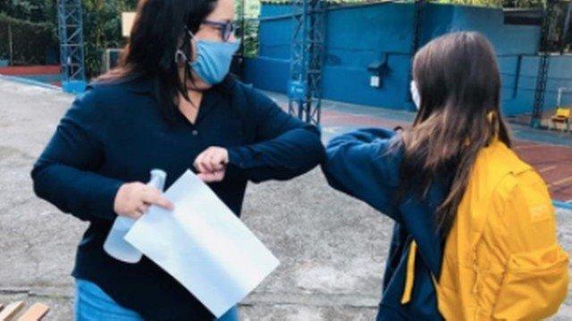 Colégio particular na Zona Oeste do Rio retoma aulas presenciais com 'novo normal'