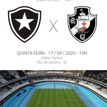 Botafogo x Vasco: veja onde assistir, escalações, desfalques e arbitragem