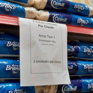 Mercados do Rio já limitam compras de arroz, leite e óleo de soja devido ao risco de desabastecimento