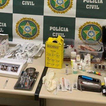 Polícia interdita duas clínicas de estética clandestinas em Nova Iguaçu