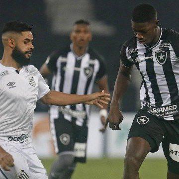 Botafogo empata com o Santos e mantém sequência sem vitórias no Brasileirão