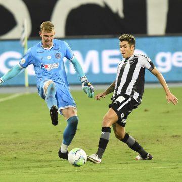 Bruno Nazário, do Botafogo, tem lesão grave no ligamento do tornozelo esquerdo