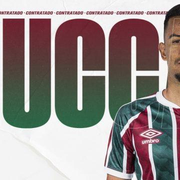 """Fluminense anuncia contratação de Lucca até 2022, e atacante comemora: """"Um desafio gigante"""""""