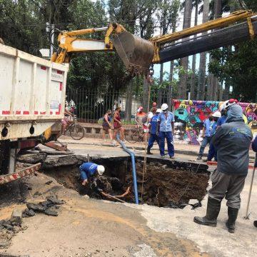 Cedae conclui reparo emergencial de vazamento no Jardim Botânico, Zona Sul do Rio