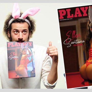A bela Musa, Modelo e Miss Bumbum Ellen Santana Causou em festa na apresentação da última capa da Playboy Portugal