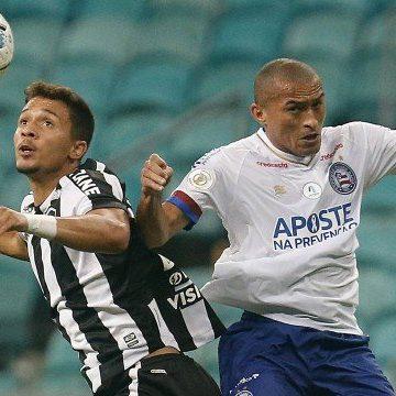 Com pênalti no último minuto, Botafogo perde para o Bahia e volta ao Z4