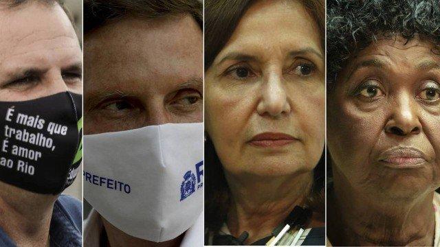 Paes lidera no Rio, e Crivella, Martha Rocha e Benedita disputam vaga no 2º turno, diz Ibope