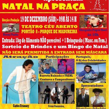 Produtor Ronny Prata promove festa natalina no parque de Madureira