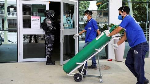 Governo do AM pede oxigênio para empresas do Polo Industrial de Manaus; montadora doa 14 cilindros para hospitais