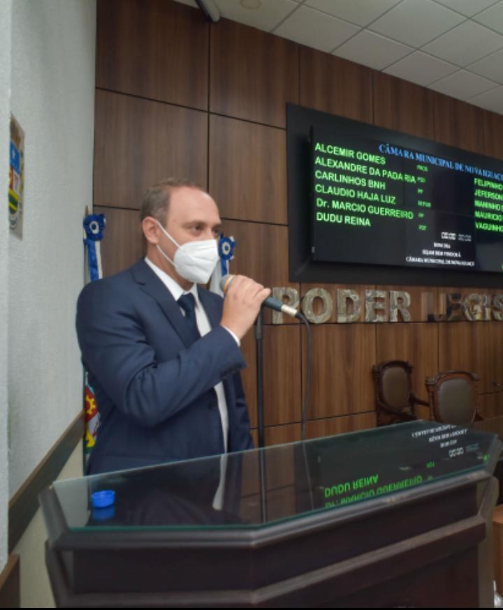 Vereador Dudu Reina é o novo presidente da Câmara Municipal de Nova Iguaçu