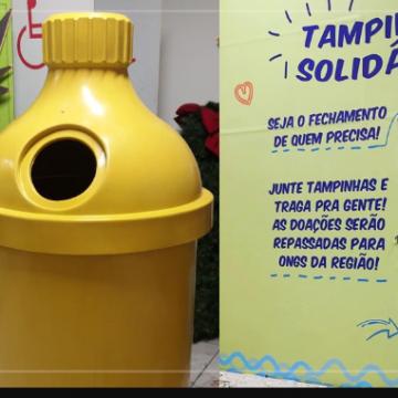 """Projeto """"Tampinhas do Bem"""" recolhe tampas plásticas no Shopping Nova Iguaçu"""