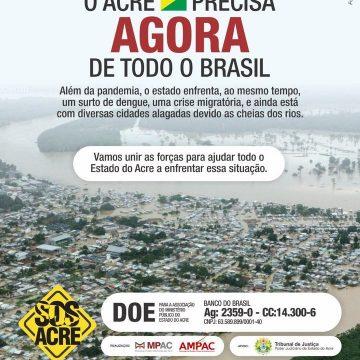 ENCHENTES:'SOS ACRE PEDE SOCORRO PELAS ENCHENTES'