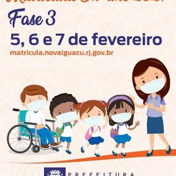 Fato:'Educação: Nova Iguaçu terá terceira fase de pré-matrícula on-line'
