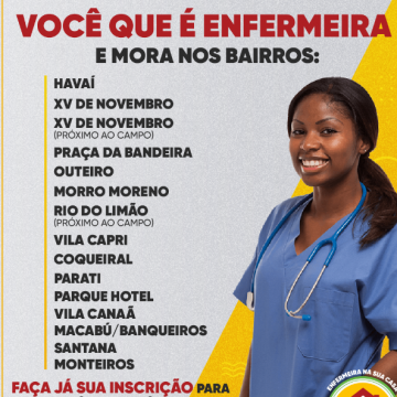 Prefeitura de Araruama abre inscrições para Enfermeiras participarem do Projeto Casa Saúde