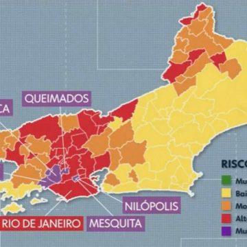 """ALERTA:""""Cinco municípios do Grande Rio entram em risco muito alto para Covid-19″"""