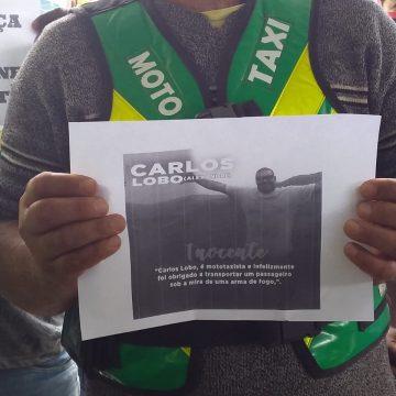 Manifestantes pedem justiça por mototaxista acusado de envolvimento em ação criminosa em Engenheiro Pedreira