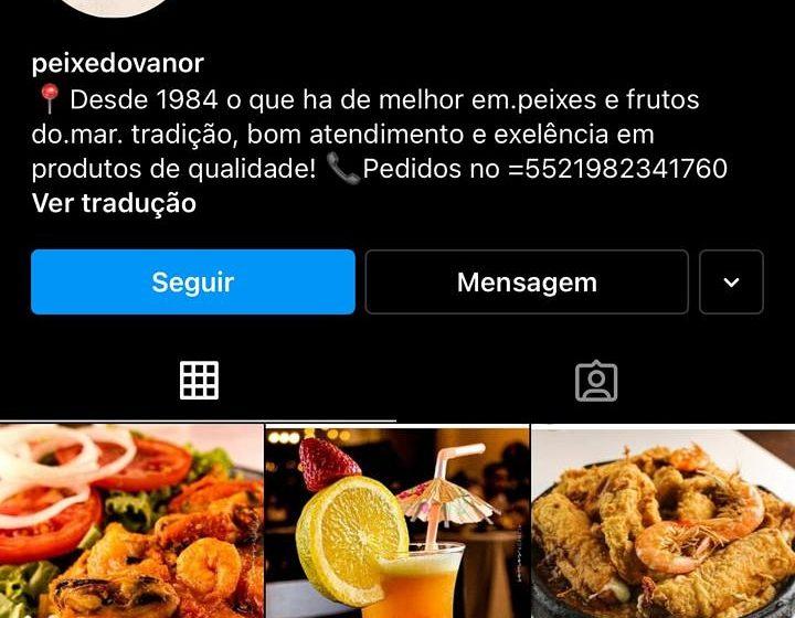 Golpistas clonam perfil do Peixe do Vanor no Instagram para roubar dados de zaps e uso de CPFs
