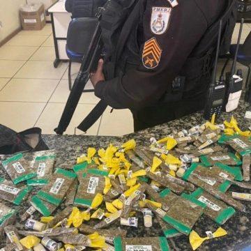 Dupla é presa em Caxias com farto material de drogas