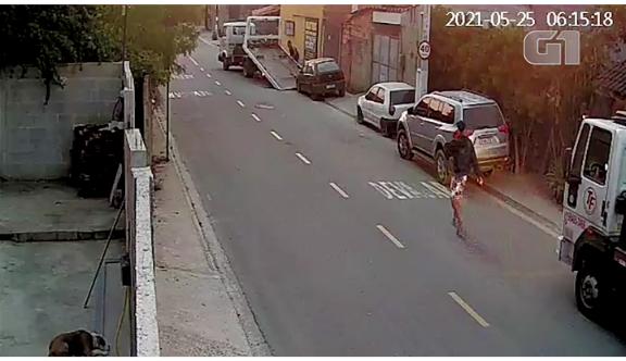 Suspeito de integrar quadrilha que rebocava carros e levava para desmanche no RJ é preso; vídeo mostra ação de criminosos