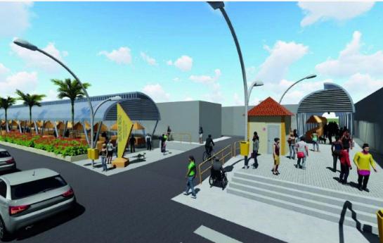 Prefeitura de Belford Roxo começa a construção do Mercado Popular para ambulantes