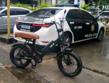 Bicicleta furtada de casal no Leblon é recuperada no Largo do Machado