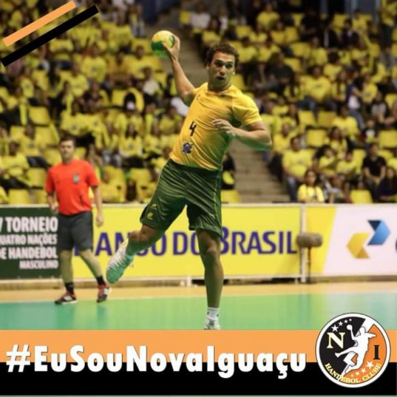 Iguaçuano João Silva atleta de handebol vai disputar sonho olímpico em Tokio