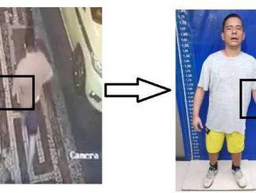 Câmera mostra criminoso sem um dos braços roubando celular em Copacabana